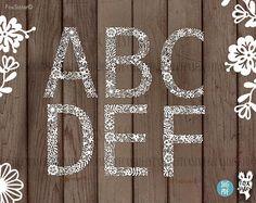 SVG Alphabet Bundle 26 letters svg / PDF Papercut Template