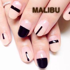 black geometric nail designs
