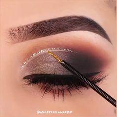 "😍😍 History of eye makeup ""Eye care"", put simply, ""eye make-up"" happens to Makeup Eye Looks, Eye Makeup Steps, Eye Makeup Art, Glam Makeup, Eyebrow Makeup, Eyeshadow Makeup, Beauty Makeup, Fall Eyeshadow, Eyeshadow Palette"