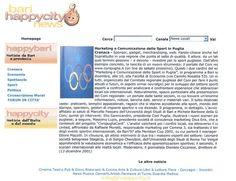 Articolo su Bari Happycity News - Presentazione nuovo sito CONI Puglia  Articolo su Bari Happycity News - Presentazione nuovo sito CONI Puglia - 2001