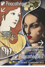 L'Art Nouveau et Tamara de Lempicka à la Pinacothèque
