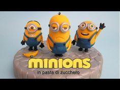 Come fare i Minions in pasta di zucchero, cake topper tutorial - YouTube