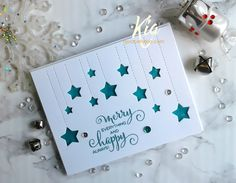 I did this card for Frantic Stamper's latest Christmas release. I love this dangling star die, so I did another card using a different se...
