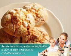 Reteta de biscuiti pentru bebelusi de la varsta de 10 luni si copii de orice varsta. Un dulce sanatos fara adaos de zahar.