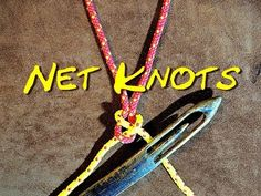 Net Making Knots Close Up The Two Net Making Knots That I Use and Why I have done a couple of net making videos and some people have asked why I use two diff. Rope Knots, Macrame Knots, Net Making, Knots Guide, Cast Nets, Fishing Rod Storage, Fishing Knots, Fishing Tips, Knot Out