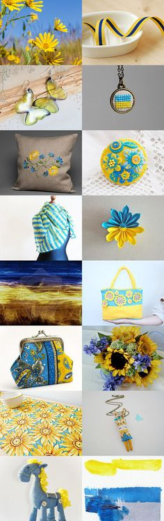 Blue and Yellow by Marta on Etsy--Pinned with TreasuryPin.com