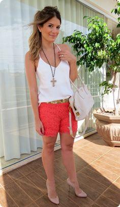 Short de Renda na Moda