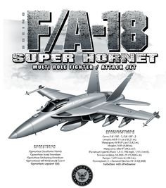 US Navy F-18 Super Hornet Fighter Shirt $17.76