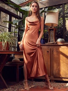 Spaghetti prom dress ,sexy prom dress by MeetBeauty on Zibbet Red Silk Dress Looks You Need To Try This Valentine's Day Ball Dresses, Satin Dresses, Evening Dresses, Formal Dresses, Elegant Dresses, Sexy Dresses, Midi Dresses, Silk Formal Dress, Draped Dress