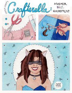 Crafterella guest art by Rachel Sullivan Illustration
