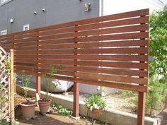 SEEDS通信~昭和系ガーデンデザイナーの日記:ウリン材の目隠しフェンス♪