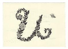 • U • Handwritten Letters