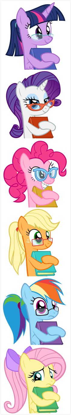 My Little Pony The Mane 6 Twilight Sparkle Pinkie Pie Applejack Rarity Fluttershy Rainbow Dash