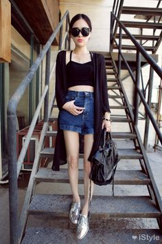 cute and unapproachable. For days when I just need to run by errands and still look good. Korean Fashion Work, Asian Fashion, Love Fashion, Girl Fashion, Fashion Looks, Fashion Outfits, Fashion Trends, Fashion Styles, Fashion Women