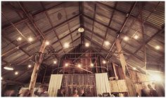Shai and Brock's rustic reception venue at Boomerang Farm was adorned in specially-made decorations. {Photographer: Mitchell Carlin}
