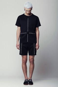 ELIRAN NARGASSI Menswear | SPRING SUMMER 2014 Scuba Fabric, Men Street, Street Wear, Fashion Ideas, Trendy Fashion, Fashion Design, Mens Fashion, Fashion Outfits, Minimalist Clothing