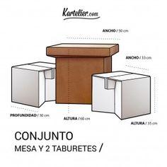 Mesas de carton baratas - Mesa de carton corrugado - Kartelier | Muebles de cartón