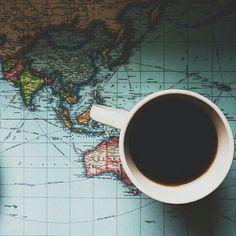 soulmate24.com Photo #coffee #mug #map #travel #pretty