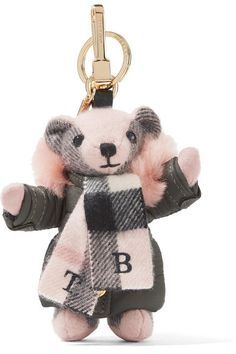 Baby-pink, black and white cashmere, blush shearling, army-green shell Lobster clasp and ring fastening