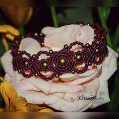 """""""Ажурный браслет.  Возможен повтор в другом цвете.  #floralium #ethnic #handmade…"""