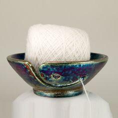 Yarn Bowl Knitting Bowl Campernik Handmade Pottery  by CHpottery, $35.00