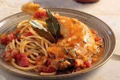 Amateur Cook Professional Eater - Greek recipes cooked again and again: Braised chicken in aromatic tomato sauce, served with macaroni Pasta Recipes, Cooking Recipes, Greek Pasta, Braised Chicken, Mediterranean Recipes, Greek Recipes, Tomato Sauce, Main Dishes, Kai