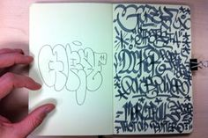 Parisian graffiti writer, Gorey is well versed in the art of clean handstyles