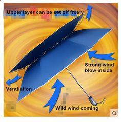 (6pcs/lot)112 diameter visible double layer two fold auto open golf umbrellas hex-angles steel shaft,double bridge fiberglass
