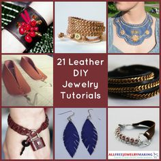 How To Make Leather Jewelry: 9 Jewelry Tutorials You'll Want To Try Right Away - Craft Paper Scissors Leather Jewelry Tutorials, Leather Jewelry Making, Leather Cord Bracelets, Leather Earrings, Best Friend Jewelry, Mom Jewelry, Simple Jewelry, Clay Jewelry, Jewelry Crafts