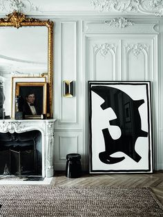A flat in Paris with boiserie. This one designed by Gilles & Boissier.