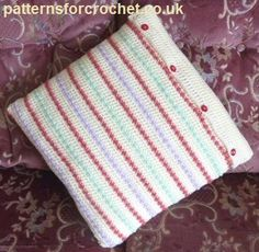 Free crochet pattern for cushion cover http://patternsforcrochet.co.uk/square-cushion-cover-usa.html #patternsforcrochet