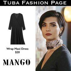 - #TubaBüyüküstün's Dress by @mango   $20  -  Its TONIGHT  As Sühan in #CesurVeGüzel Ep: 12  #tuba_büyüküstün #tubabuyukustun #tuba_buyukustun #tubabustun #TubaFashion  #SuhanStyle #TubaStyle