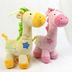 Carters Just One Year Musical Pull Plush Crib Toy Giraff Dinosaur Musical Toys *** Check out the image by visiting the link.