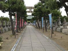 Ako, Japan home to the famous 47 Ronin. This is the entry way into the shrine dedicated to them. Along the walk way, on both sides, is a statue of each samurai who  took place in the events which led to their final death in Tokyo, in the 1700's.  One thing I did notice, not ONE samurai looked like a Yank, sorry Keanu you got it wrong.