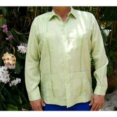 Wedding Guayabera Shirt for Men Linen 100 %