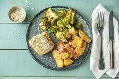 Filet de merlu et salade de pommes de terre à l'asiatique