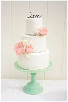 LOVE Cake Topper Custom Design by ThePinkOwlGifts on Etsy, $15.00