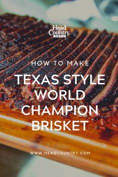 Texas Style World Champion BBQ Brisket - Barbecue - Country Recipes Brisket Marinade, Grilled Brisket, Smoked Beef Brisket, Traeger Brisket, Oven Brisket, Brisket Sides, Cooking Brisket, Brisket Meat, Traeger Smoker