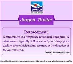 Demystify the term #Retracement in the financial context? Retracement is a temporary reversal in stock price. #Trading  #JargonBuster