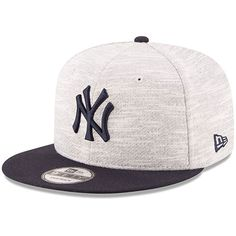 New York Yankees New Era Terry Fresh 9FIFTY Adjustable Snapback Hat - Gray/Navy - $27.99
