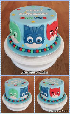 Pj Masks Cake πάρτι γενεθλίων In 2019 Pj Masks Birthday Cake
