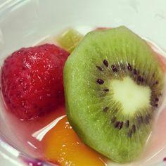 Yogurt and fruits