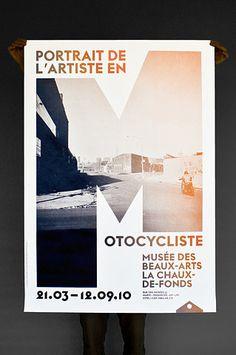 Poster Motocycliste