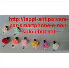 Tappo antipolvere con rosa Ø10mm 8 colori x presa jack cuffie 3.5mm universale su eBid.net Italia