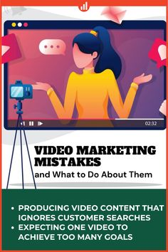 Is your video marketing working? Are you making some mistakes that affect its results? Learn here few video marketing mistakes seen most often. #videomarketing #marketing #marketingstrategy #YouTube #marketingtips #MarketingDigital #CustomerExperience #BrandingMarketingAgency