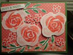 Stampin' Up! Roses in Winter set.