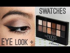 Maybelline The Nudes Palette First Impressions & Tutorial - YouTube