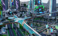 Futuristic City, Futuristic Architecture, Cyberpunk, Future Transportation, Asgard, Underwater City, City Drawing, Modernisme, Medieval Houses