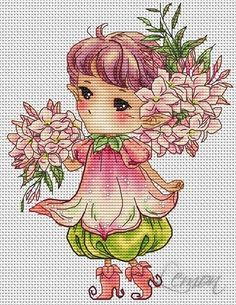 "ru / Fénykép # 162 - A cég ""Lena Lawson Needlearts"" - Cross Stitch Fairy, Cross Stitch Angels, Cross Stitch Embroidery, Cross Stitch Patterns, Unicorn Pictures, Dragon Pattern, Charts And Graphs, Back Stitch, Flower Fairies"