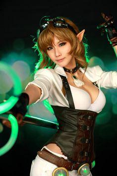 TASHA as Hextech Janna from League of Legends #cosplay